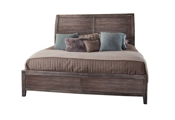 American Woodcrafters Aurora Weathered Grey Sleigh Beds AWC-2800-SLPN-BED-VAR
