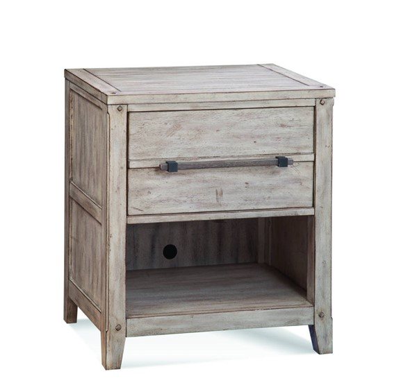 American Woodcrafters Aurora Whitewash 1 Drawer Nightstand AWC-2810-410