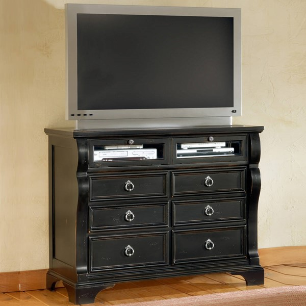 American Woodcrafters Heirloom Black Entertainment Chest AWC-2900-232