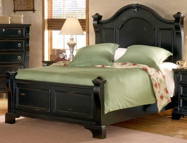 American Woodcrafters Heirloom Black King Poster Bed AWC-2900-66POS