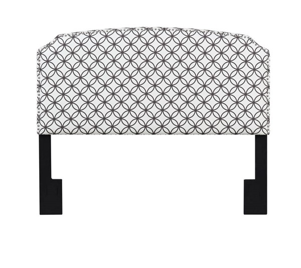 American Woodcrafters Simone Geo Brown Full Queen Upholstered Headboard AWC-U-31201-FQHB-4E