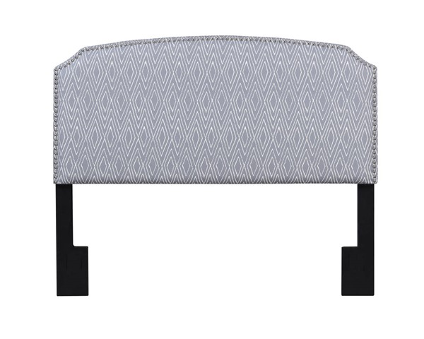 American Woodcrafters Simone Grey Pattern Full Queen Upholstered Headboard AWC-U-31201-FQHB-5F