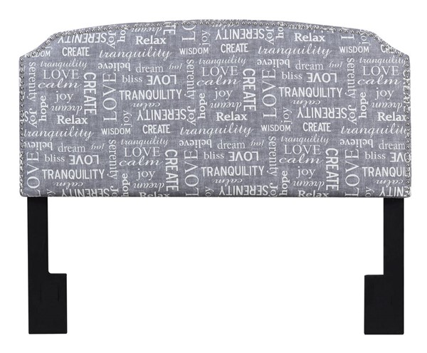 American Woodcrafters Simone Phrase Grey Full Queen Upholstered Headboard AWC-U-31201-FQHB-6F