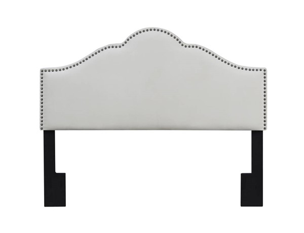 American Woodcrafters Anna Ivory Full Queen Upholstered Headboard AWC-U-31417-FQHB-1A