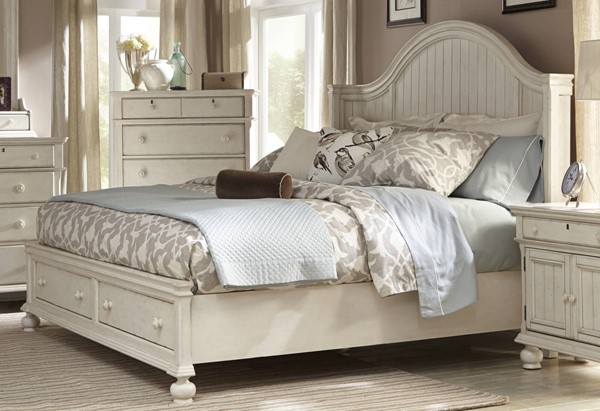 American Woodcrafters Newport Queen Storage Bed AWC-3710-50PBS