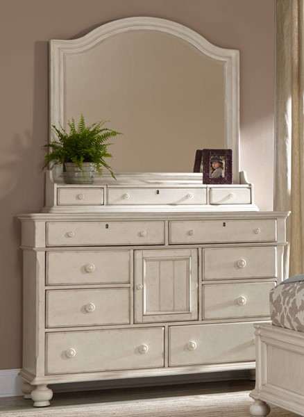 American Woodcrafters Newport Dresser and Mirror AWC-3710-281-12-040-DRMR