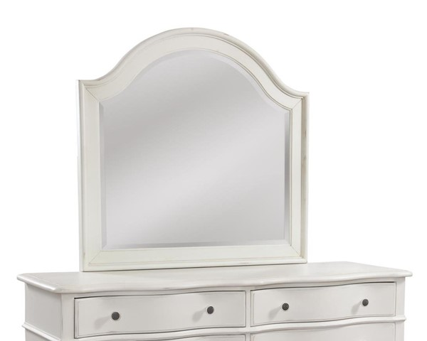 American Woodcrafters Rodanthe Dove White Landscape Mirror AWC-3910-040