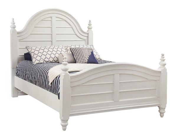 American Woodcrafters Rodanthe Dove White Panel Beds AWC-3910-PN-BED-V
