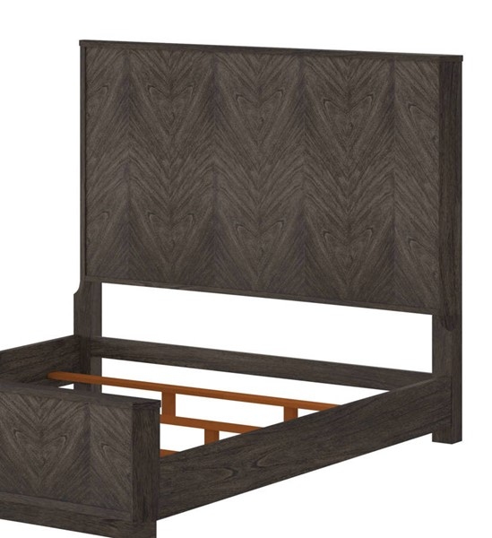 American Woodcrafters Silhouette Burnished Espresso King Panel Headboard AWC-4200-960