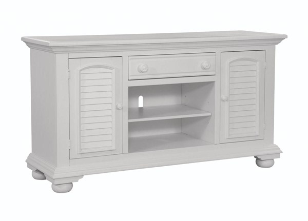 American Woodcrafters Cottage Traditions White 60 Inch Console AWC-6510-216