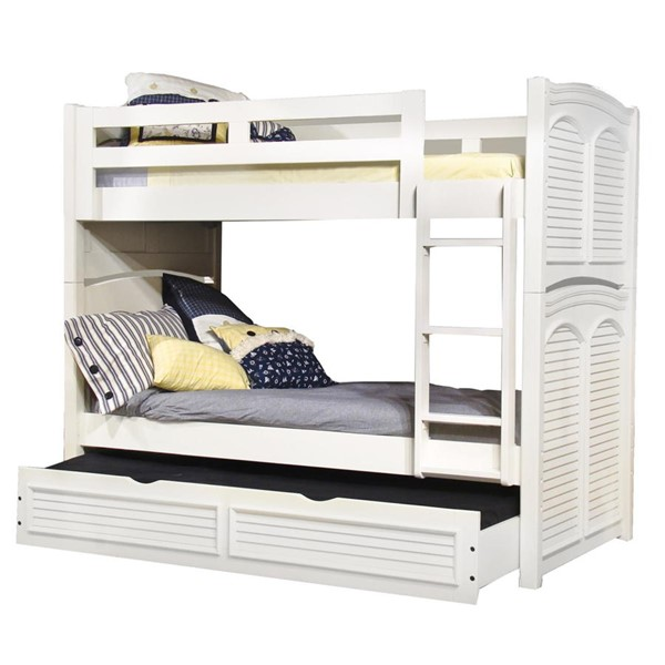 American Woodcrafters Cottage Traditions White Trundle Bunk Beds AWC-6510-TR-BBED-VAR