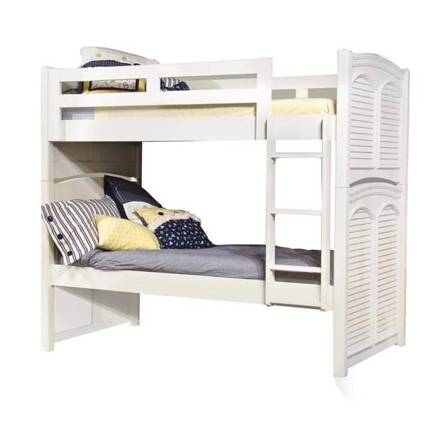 American Woodcrafters Cottage Traditions White Twin over Twin Bunk Bed AWC-6510-33BNK