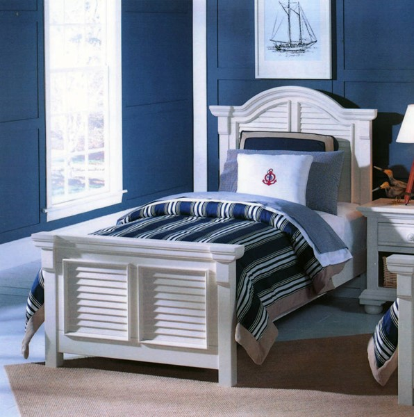 American Woodcrafters Cottage Traditions White Twin Panel Bed AWC-6510-33PNPN