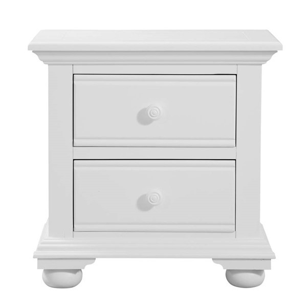 American Woodcrafters Cottage Traditions White Two Drawer Nightstand AWC-6510-420