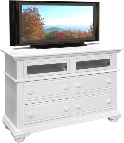 American Woodcrafters Cottage Traditions White TV Stand AWC-6510-232