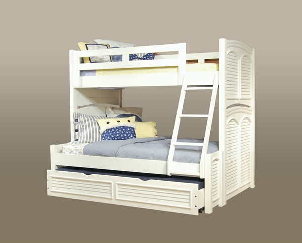 American Woodcrafters Cottage Traditions Trundle Bunk Beds AWC-6510-TR-BBED-VAR