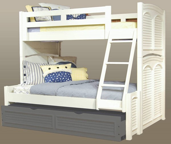 American Woodcrafters Cottage Traditions White Twin over Full Bunk Bed AWC-6510-TFBNK