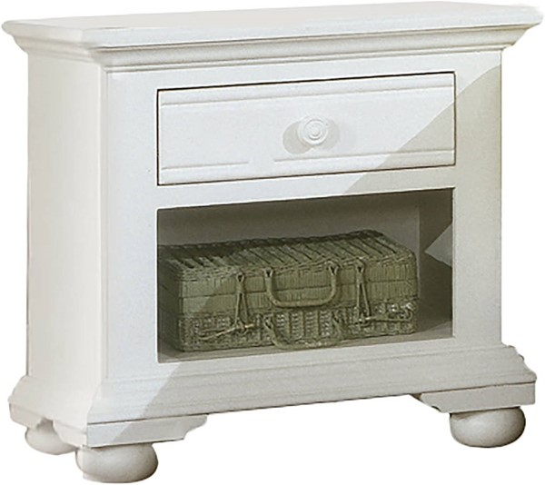 American Woodcrafters Cottage Traditions White 1 Drawer Nightstand AWC-6510-410