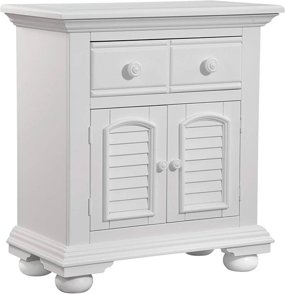 American Woodcrafters Cottage Traditions White Large Nightstand AWC-6510-412