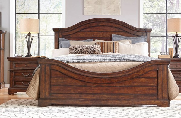 American Woodcrafters Stonebrook Tobacco 2pc Bedroom Set with King Bed AWC-7800-66-BR-S1