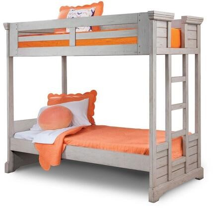 American Woodcrafters Stonebrook Light Distressed Antique Gray Bunk Beds AWC-7820-BNK-VAR