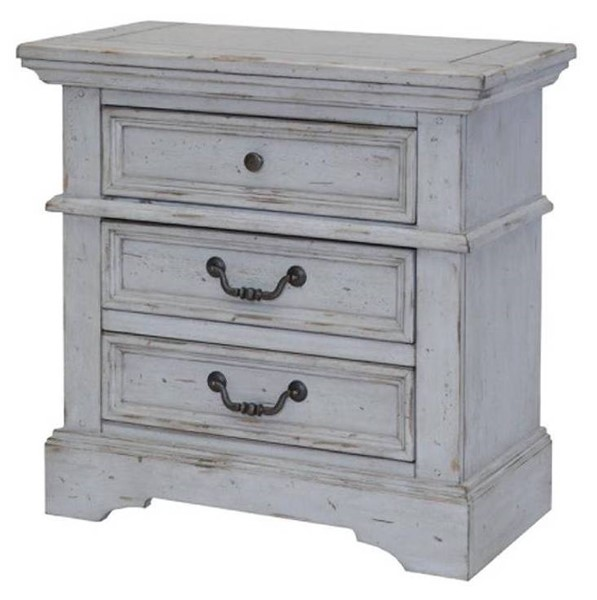 American Woodcrafters Stonebrook Light Distressed Antique Gray Nightstand AWC-7820-430