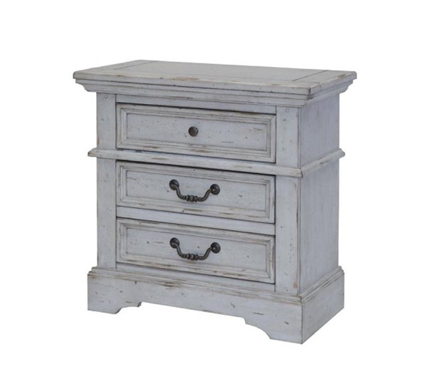 American Woodcrafters Stonebrook Antique Gray Nightstand AWC-7820-430
