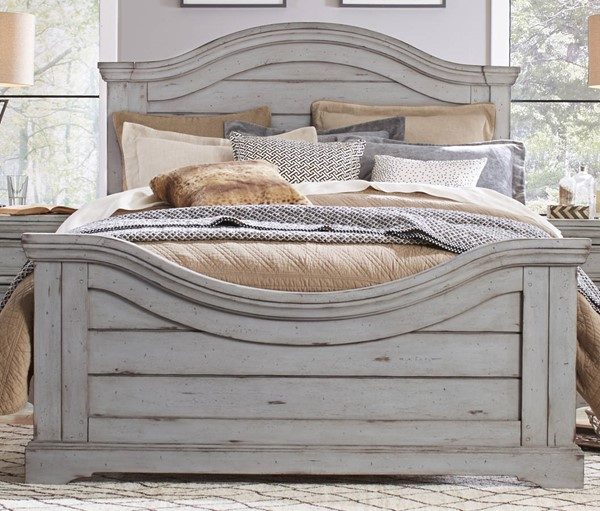 American Woodcrafters Stonebrook Antique Gray Queen Panel Bed AWC-7820-50PAN