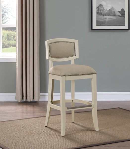 American Woodcrafters Off White Counter Height Stool with Wood Frame AWC-B2-231-26F