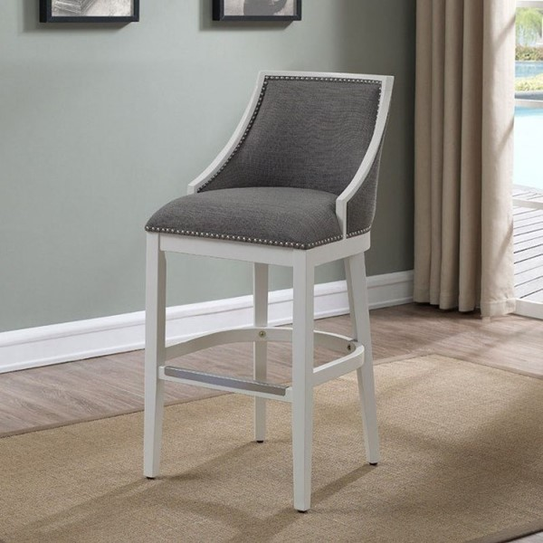 American Woodcrafters Off White Stool with Wood Frame AWC-B2-234-26F