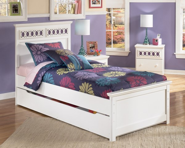 Zayley Replicated White Paint Twin Panel Footboard B131-52