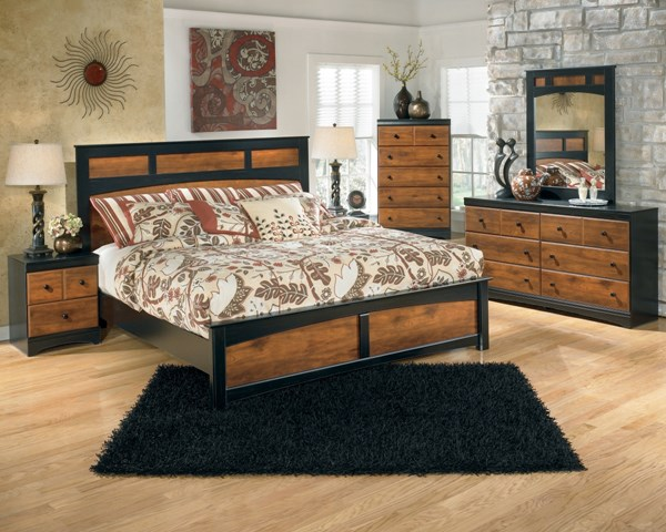 Aimwell Casual Dark Brown Wood Master Bedroom Set B136