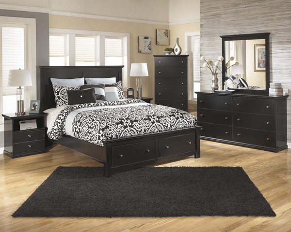 Ashley Furniture Maribel Black Master Bedroom Set B138
