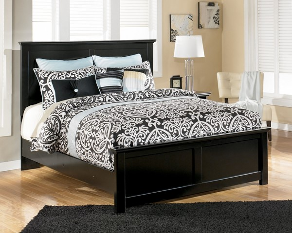 Maribel Cottage Black Wood Beds W/scalloped Tops B138-Bed