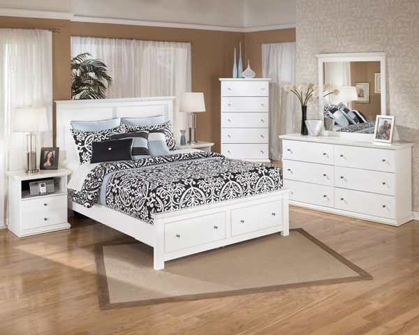 Bostwick Shoals White Wood 2pc Bedroom Set W/Queen Storage Bed B139-S6
