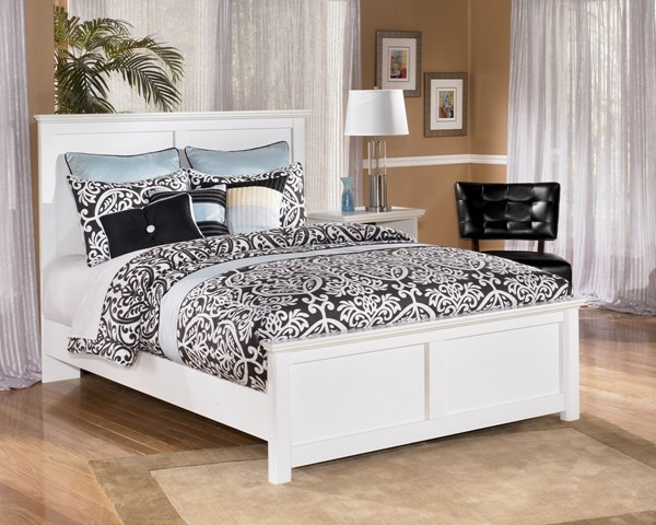 Bostwick Shoals White Wood Cottage Bed Sets B139-Bed
