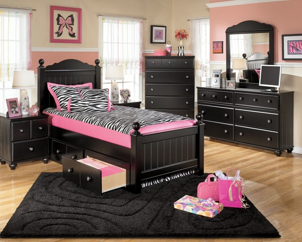 Ashley Furniture Jaidyn Black Poster Beds with Storage B150-BedTS-VAR