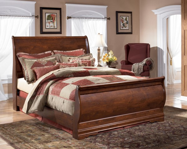 Wilmington Traditional Replicated Cherry Grain Wood Bed B178M-BedQ