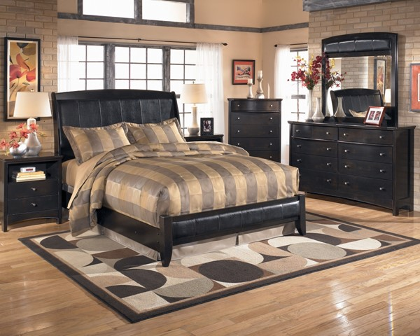 Harmony Contemporary Dark Brown Wood Master Bedroom Set B208
