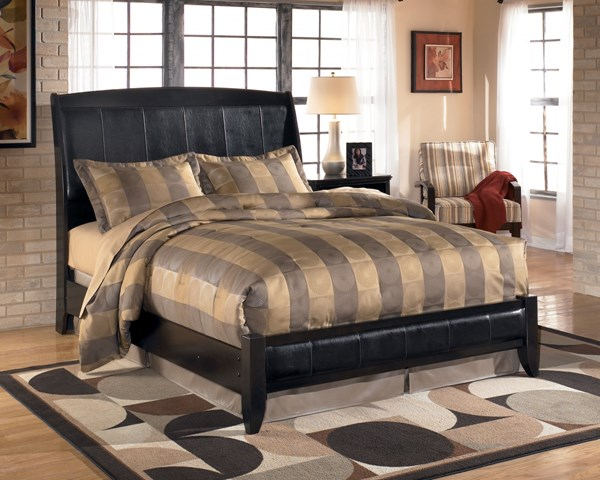 Harmony Contemporary Dark Brown Wood King Bed B208-KB