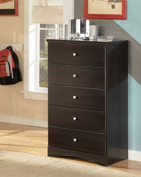 Embrace Contemporary Merlot Wood Drawer Chest B239-46