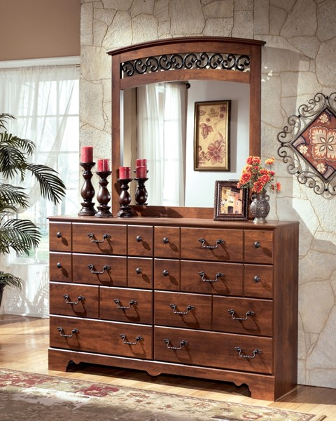 Timberline Traditional Warm Brown Wood Bedroom Mirror B258-36