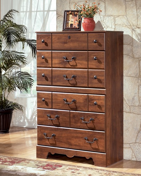 Timberline Traditional Warm Brown Wood Drawer Chest B258-46