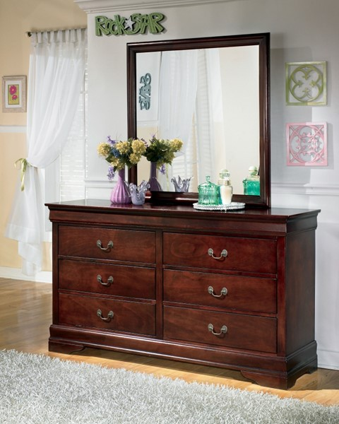 Alisdair Traditional Dark Brown Wood Dresser B376-31