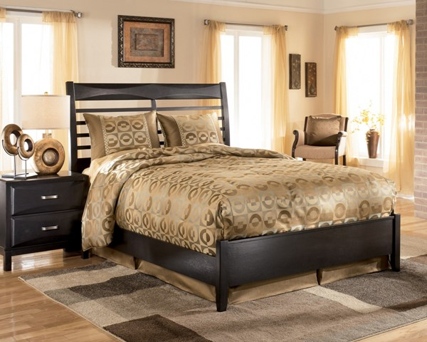 Kira Contemporary Almost Black Wood Beds B473-BD-VAR