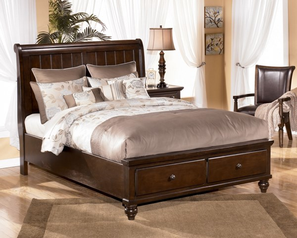 Camdyn King Storage Sleigh Bed | The Classy Home