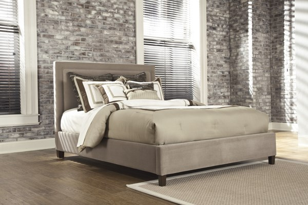 Kasidon Contemporary Wood Fabric Bed Set B600-Bed
