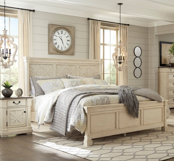 Ashley Furniture Bolanburg White 2pc Bedroom Set With Cal King Bed B647-BR-S3