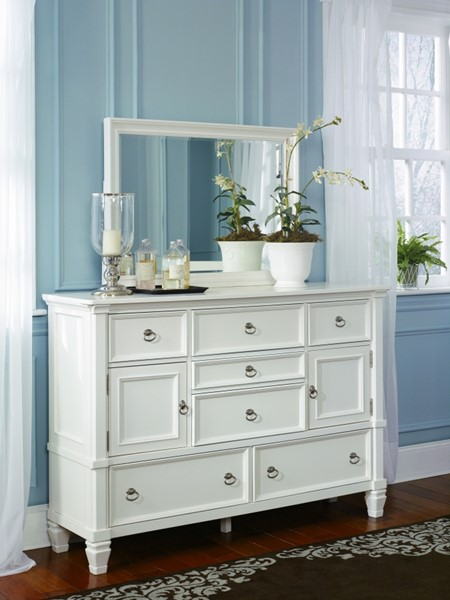 Prentice Cottage White Dresser And Bedroom Mirror B672-31-B672-36