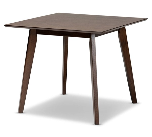 Baxton Studio Pernille Walnut Square Dining Table BAX-LWM90908HL32-Walnut-DT